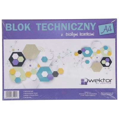 Blok techniczny Wektor A4/10k - biały (334087)