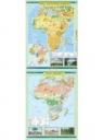 Mapa - Afryka. Ukształtowanie powierzchni NE