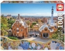 Puzzle 1000 elementów Barcelona widok z parku Guell (17966)