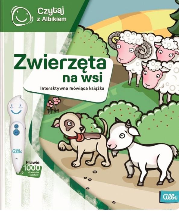 Czytaj z Albikiem: Zwierzęta na wsi - interaktywna mówiąca książka (49630)