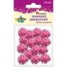 Pompony brokatowe, 15 szt. - różowe (338525)