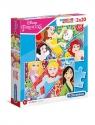Puzzle Supercolor 2x20: Disney Princess (24766) Wiek: 3+