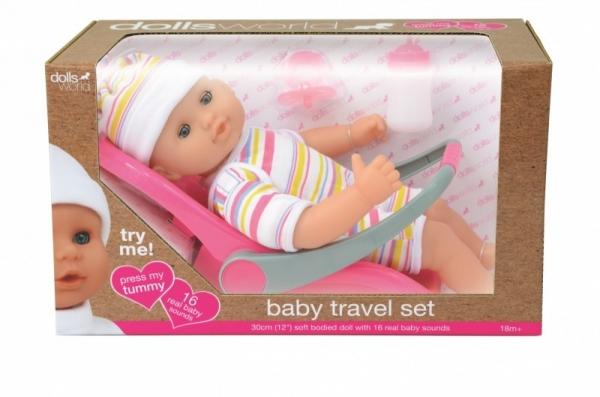 Lalka bobas 30 cm Baby Travel Set (016-08866)