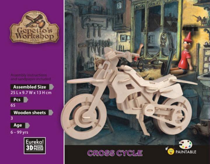 Łamigłówka drewniana Gepetto - Motor crossowy