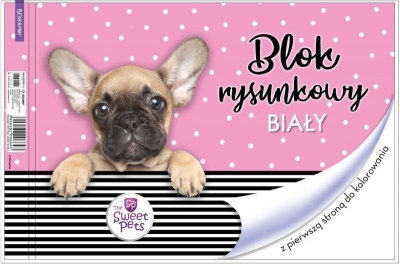 Blok rysunkowy biały A4/20K Pies
