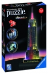 Puzzle 216: Empire State Building nocą. 3D (125661)