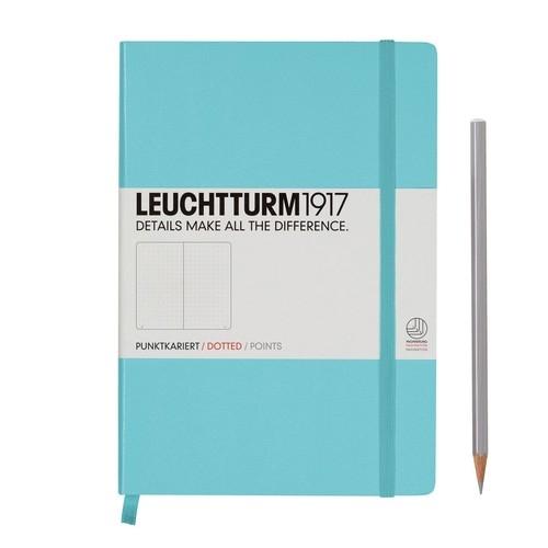 Notes Medium Leuchtturm1917 w kropki turkusowy 332596