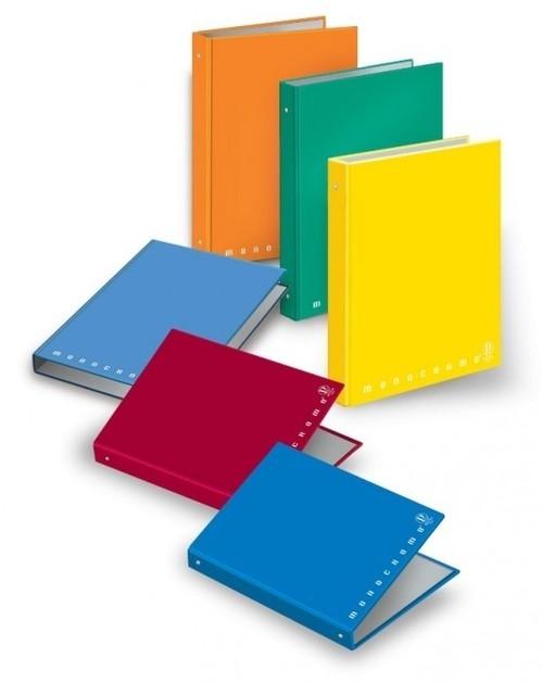 Segregator szkolny A5 Pigna Monocromo 4 ringi mix kolorów