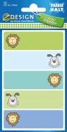 Naklejki na zeszyty - pies i lew (59666)