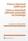 Ustawa o finansach publicznych Ustawa o dochodach jednostek samorządu