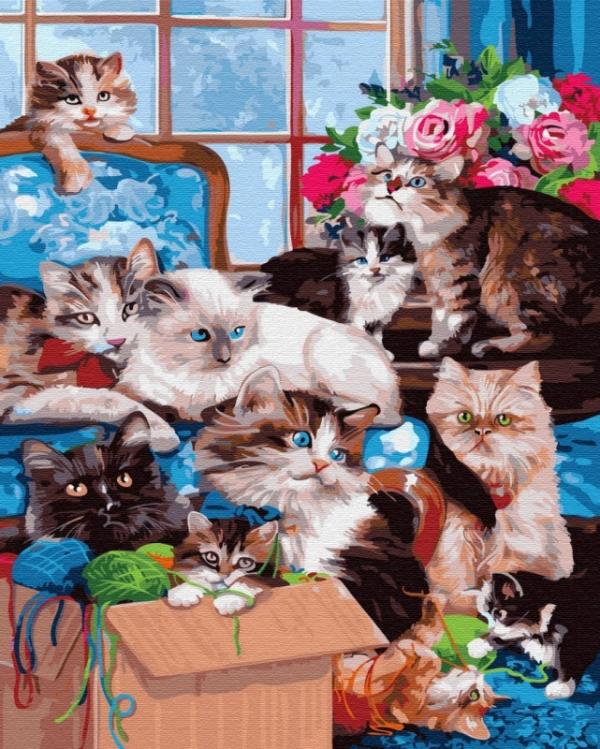 Obraz Malowanie po numerach Koty (GX33480)