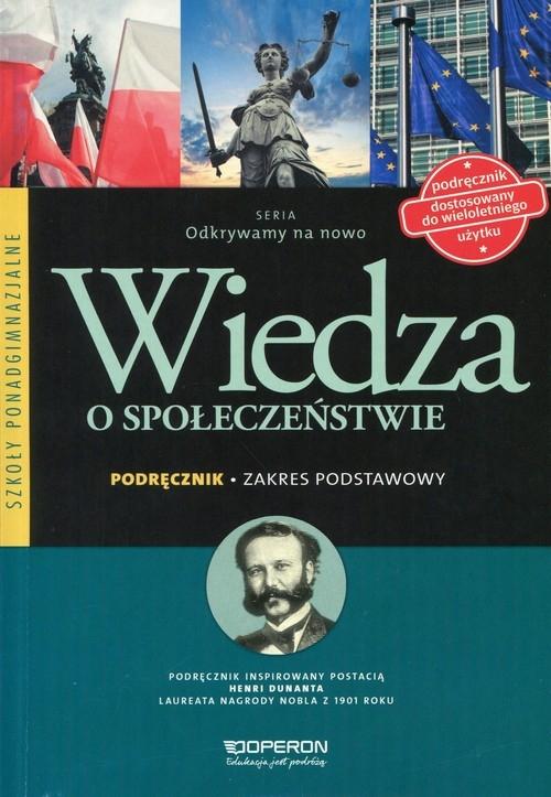 Odkrywamy na nowo Wiedza o społeczeństwie Podręcznik Zakres podstawowy Smutek Zbigniew, Maleska Jan