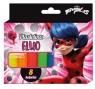 Plastelina Fluo 8 kolorów. Biedronka i czarny kot