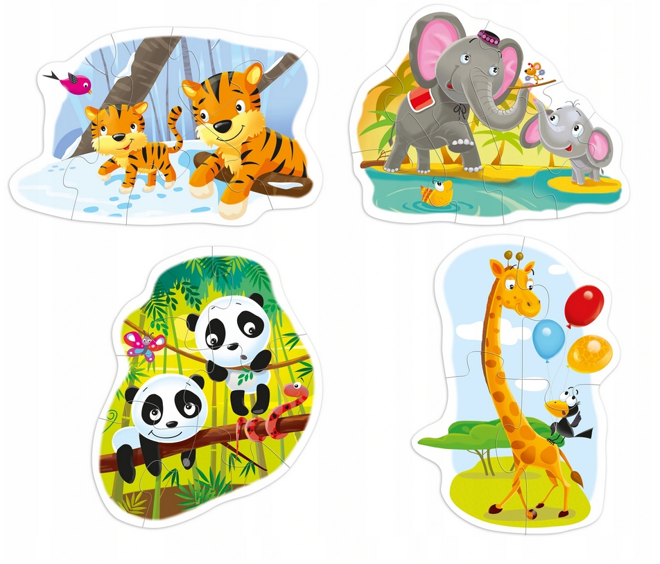 Baby Puzzle 4w1: Dzikie zwierzęta (0566)