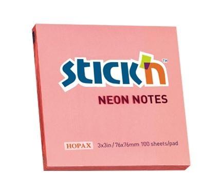 Notes samoprzylepny różowy neonowy