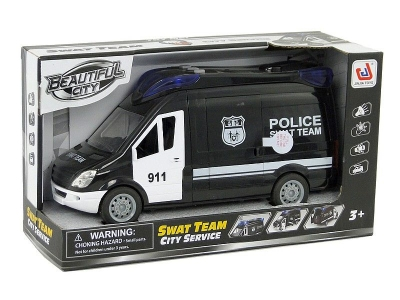 Samochód policyjny Adar otwierane drzwi, światło, dźwięk (503663)