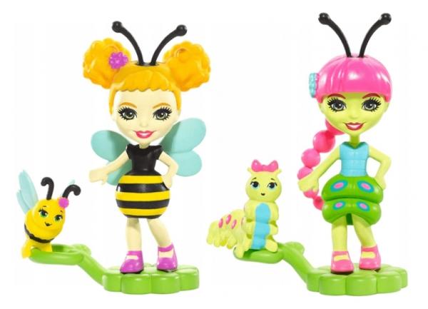 Enchantimals: Małe Przyjaciółki Kwitnący Ogród 2-pak:  Cay Caterpillar i Beetrice Bee (FXM86/FXM88)