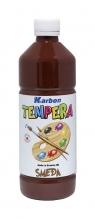 Farba tempera w butelce Karbon brązowy 550ml