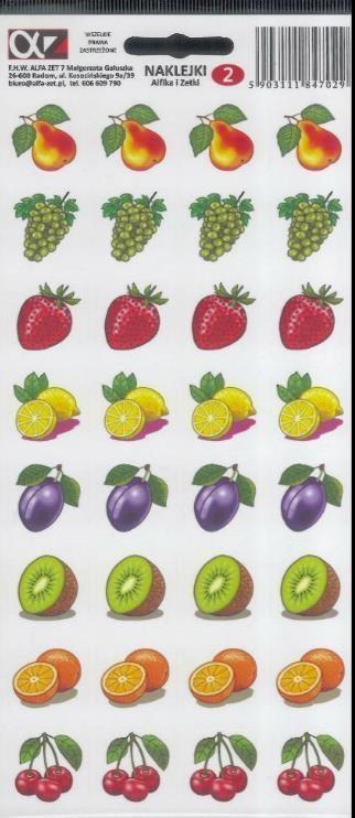 Naklejki Alfika i Zetki 2 Owoce