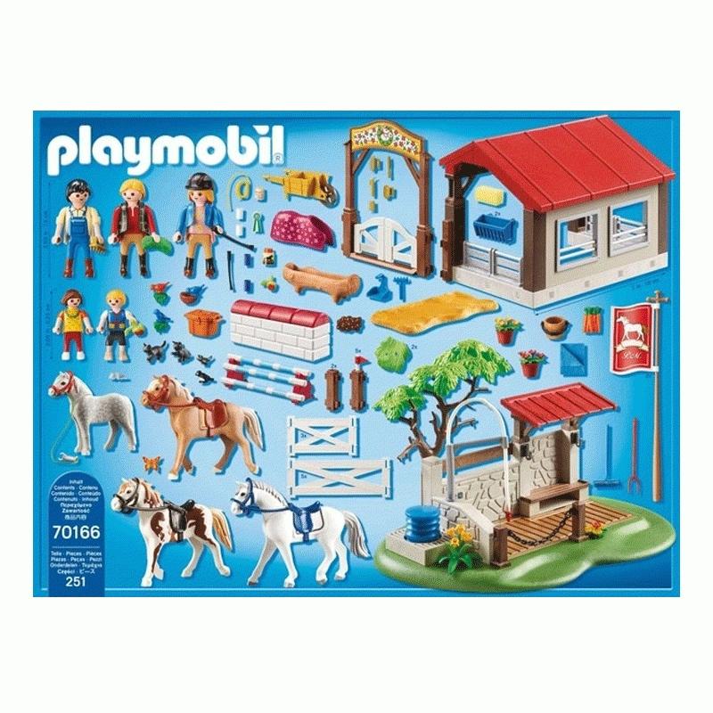 Playmobil Country: Duży parcour dla koni z myjnią (70166)