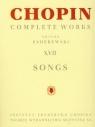 Chopin Complete Works XVII Pieśni