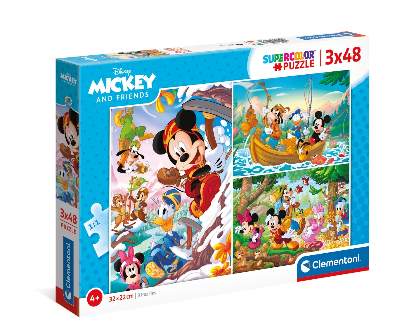 Puzzle SuperColor 3x48: Mickey and Friends (25266)