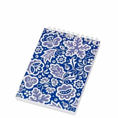 Notes Folk na spirali-format A6-kujawski niebieski