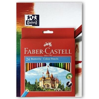 Zestaw Kredki Zamek 24 kolory + blok FABER CASTELL