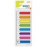 Zakładki indeksujące strzałki 8 kolorów neon x 15 sztuk + linijka