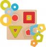 Puzzle warstwowe 4 kształty geometryczne (GOKI-57705)