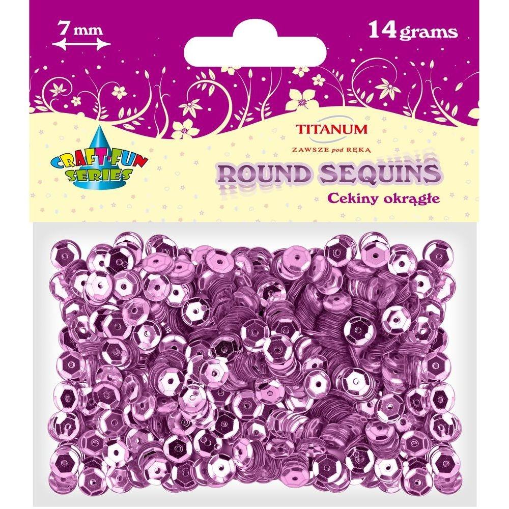 Cekiny okrągłe 7mm 14g - metaliczne różowe (260080)
