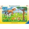 Puzzle ramkowe 15: Miłośnicy słodkich zwierząt (6066) Wiek: 3+