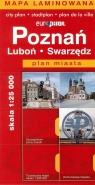 Poznań Swarzędz Luboń plan miasta skala 1:25 000
