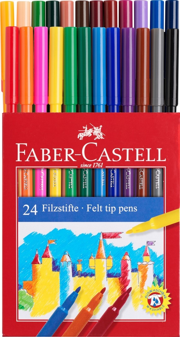Flamastry Zamek, 24 kolory (554224)