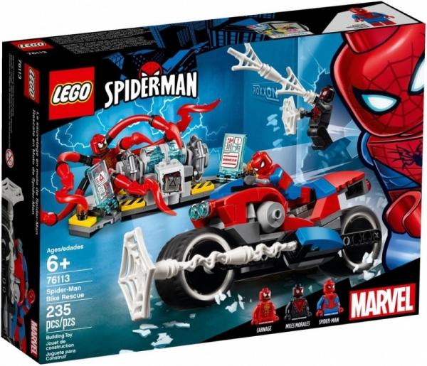Klocki Super Heroes Pościg motocyklowy Spider-Mana (76113)
