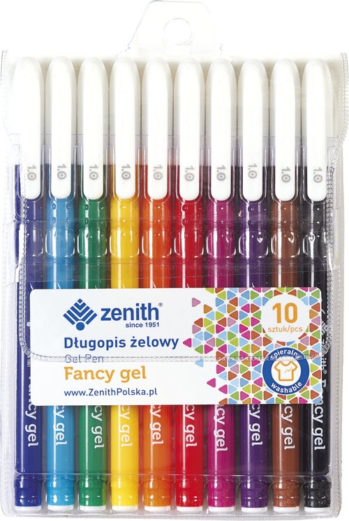 Długopisy żelowe Zenith 10 kolorów