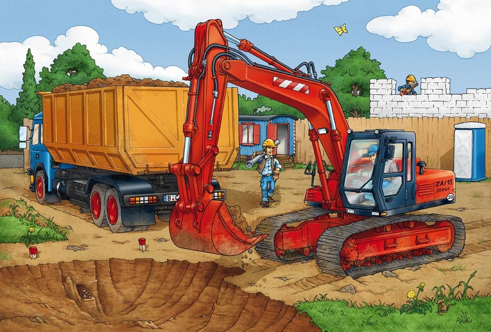 Puzzle 3x24: Uwaga! Roboty budowlane