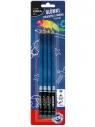 Ołówki trójkatne z gumką HB - 4 szt. (DRF-43040)