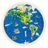 Puzzle okrągłe: Mapa świata (GOKI-57666)