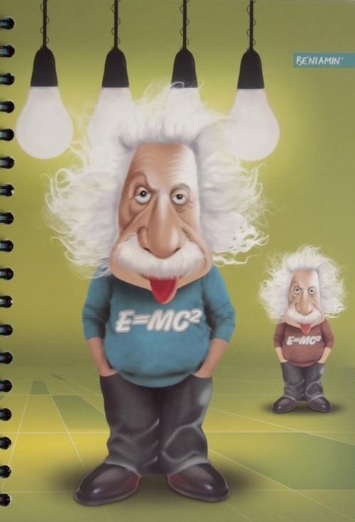 Kołobrulion B5 160 kartek z perforacją i kolorowymi registrami Einstein (602866)