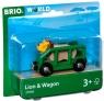 Brio World: Lew w wagoniku (63396600)Wiek: 3+