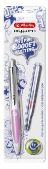 Długopis atramentowy my.pen biało-różowy