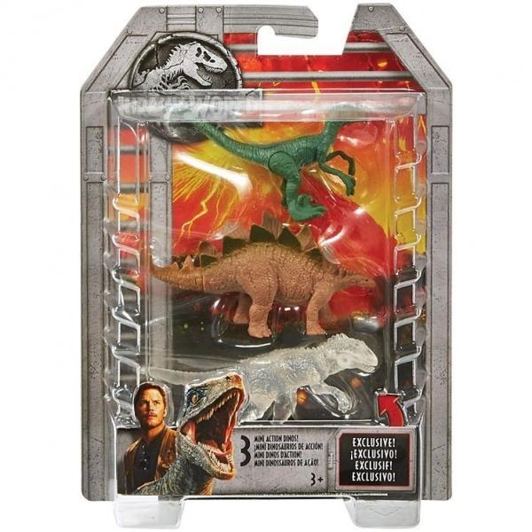 JURASSIC WORLD Mini Dinozaury trzypak FPN73 (FPN72/FPN73)