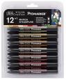 Zestaw pisaków Promarker Winsor & Newton - Steampunk, 12 kolorów (0290056)