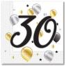 Serwetki Godan balloons - biały 330 mm x 330 mm (88866)
