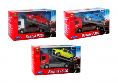 Welly Truck 1:57 Scania + samochód
