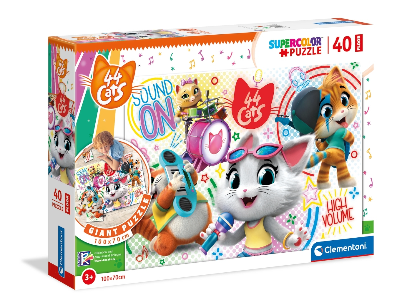 Puzzle podłogowe SuperColor 40: 44 cats (25466)