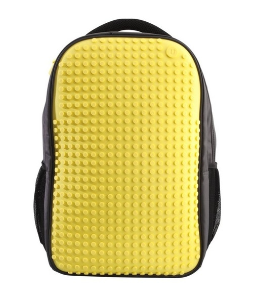 Plecak dwukomorowy na laptopa 15 Pixelbags szaro-źółty