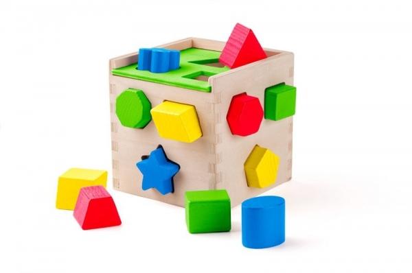 Sorter z klockami drewnianymi 12 elementów (91866)