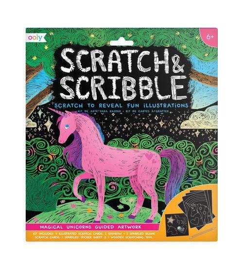Zdrapywanki Scratch & Scribble - Magiczne Jednorożce